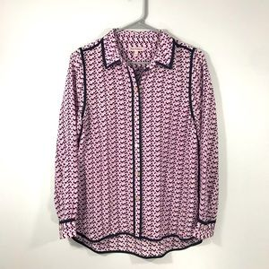 JUICY COUTURE PURPLE COLLARED BUTTON DOWN BLOUSE